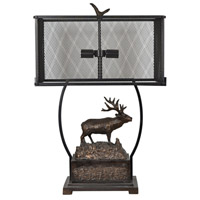 Crestview Collection CVAER1182 Edison Elk 29 inch 60 watt Antique Bronze Table Lamp Portable Light