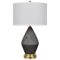 Crestview Collection CVAP2270 Tange 28 inch 150.00 watt Black Stone and Soft Brass Table Lamp Portable Light
