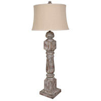 Crestview Collection CVAVP1102 Stair Post 47 inch 150.00 watt Antique Wood Table Lamp Portable Light