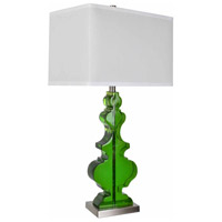 Crestview Collection CVAVP1180 Dillman 32 inch 150.00 watt Emerald and Nickel Table Lamp Portable Light