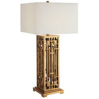 Crestview Collection CVAVP681 Montgomery 36 inch 150 watt Gold Leaf Table Lamp Portable Light
