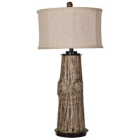 Crestview Collection CVAVP734 Harlow 35 inch 150 watt Natural Wood and Black Table Lamp Portable Light