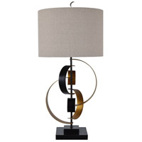 Crestview Collection CVAZER042 Bentley 35 inch 150.00 watt Burnished Gold and Dark Bronze Free Form Sculpture Table Lamp Portable Light