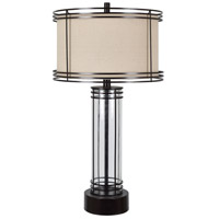 Crestview Collection CVAZER056 Aspen 34 inch 150.00 watt Polished Bronze and Natural Glass Table Lamp Portable Light
