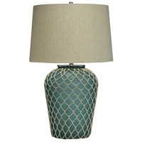 Crestview Collection CVIDZA021 Frazier 30 inch 150.00 watt Handfinished Frosted Blue Table Lamp Portable Light