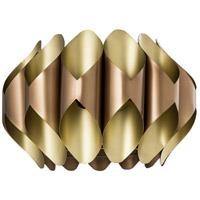 Crestview Collection CVPZDN003 Hilliard 1 Light 17 inch Rose Gold and Sparkle Matt Brass Pendant Ceiling Light Medium