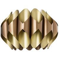 Crestview Collection CVPZDN004 Hilliard 1 Light 23 inch Rose Gold and Sparkle Matt Brass Pendant Ceiling Light Large