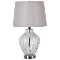 Crestview Collection EVABS1921 Amelia 24 inch 150.00 watt Handfinished Clear and Polished Nickel Table Lamp Portable Light