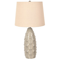 Crestview Collection EVAP2372GRY Amelia 25 inch 150.00 watt Gray Table Lamp Portable Light