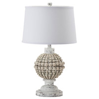 Crestview Collection EVLY1955 Amelia 26 inch 150.00 watt Handfinished Natural and White Table Lamp Portable Light