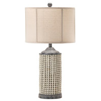 Crestview Collection EVLY1957 Amelia 29 inch 150.00 watt Handfinished Natural and Gray Table Lamp Portable Light