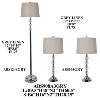 Crestview Collection ABS908A3GRY Element Table Lamps Portable Light plus Floor Lamp Set of 3