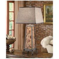 Crestview Collection CIAUP471 Autumn's Light 36 inch 150 watt Amber Bronze Table Lamp Portable Light, with Nightlight