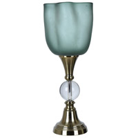Crestview Collection CVABS1249 Glow 24 inch 60 watt Antique Brass and Clear Uplight Table Lamp Portable Light