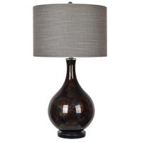 Crestview Collection CVABS1292 Adler 34 inch 150 watt Dark Grey and Antique Black Table Lamp Portable Light