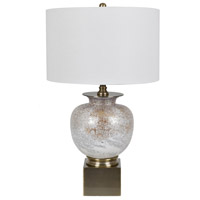 Crestview Collection CVABS1372 Selborne 31 inch 150 watt Golden Opal and Brass Table Lamp Portable Light with Nightlight