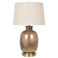 Crestview Collection CVABS1474 Charlotte 29 inch 150 watt Mastic Bronze and Antique Brass Table Lamp Portable Light