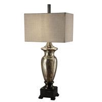 Crestview Collection CVABS561 Antique Mercury Glass 40 inch 100 watt Silver Table Lamp Portable Light