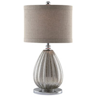 Crestview Collection CVABS672 Stardust 24 inch 100 watt Champagne Mercury and Nickel Table Lamp Portable Light