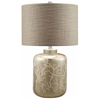 Crestview Collection CVABS793 Crystal Coral 27 inch 150 watt Mercury Glass Table Lamp Portable Light