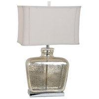 Crestview Collection CVABS980 Celine 28 inch 150 watt Mercury and Nickel Table Lamp Portable Light