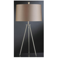 Crestview Collection CVACR770 Sabra 28 inch 100 watt Brushed Nickel Table Lamp Portable Light