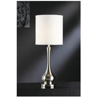 Crestview Collection CVACR870 Camden 32 inch 150 watt Brushed Nickel Table Lamp Portable Light