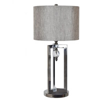 Crestview Collection CVAER1017 Johanson 29 inch 150 watt Chrome and Crystal Table Lamp Portable Light