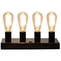 Crestview Collection CVAER1045 Bulb Holder 4 inch 40 watt Oil Bronze Table Lamp Portable Light
