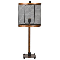 Crestview Collection CVAER1080 Webster 33 inch 150 watt Golden Bronze and Black Table Lamp Portable Light