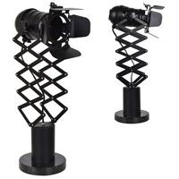 Crestview Collection CVAER1120 Directors Studio 26 inch 40 watt Black Table Lamp Portable Light