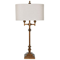Crestview Collection CVAER1136 Harper 37 inch 40 watt Antique Gold and Antique Gold Table Lamp Portable Light
