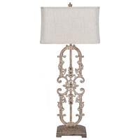 Crestview Collection CVAER1194 Madison 43 inch 150 watt Antique White Iron Table Lamp Portable Light