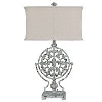 Crestview Collection CVAER1204 Olives 34 inch 150 watt French Blue Table Lamp Portable Light