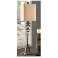 Crestview Collection CVAER223 Belle Iron 38 inch 100 watt Iron Buffet Lamp Portable Light