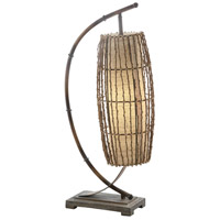 Crestview Collection CVAER226 Baha Downbridge 30 inch 40 watt Bamboo Tropics and Brown Table Lamp Portable Light