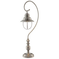 Crestview Collection CVAER345 Somerset 30 inch 60 watt Brushed Nickel Table Lamp Portable Light