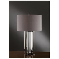 Crestview Collection CVAER359 Tensdale 32 inch 100 watt Black Nickel and Crystal Table Lamp Portable Light