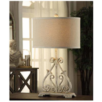 Crestview Collection CVAER547 Dunbar 28 inch 150 watt Antique White Table Lamp Portable Light