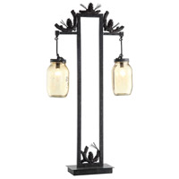 Crestview Collection CVAER741 Fire Catcher 36 inch 15 watt Rustic Metal and Resin Rustic Table Lamp Portable Light