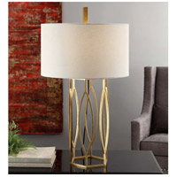 Crestview Collection CVAER762 Global 32 inch 150 watt Gold Leaf Finish Table Lamp Portable Light