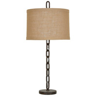 Crestview Collection CVAER791 Link 36 inch 150 watt Rustic Metal Table Lamp Portable Light
