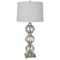 Crestview Collection Silver Metal Table Lamps