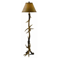 Crestview Collection CVANP950 Trophy 66 inch 150 watt Resin Natural Antler Floor Lamp Portable Light