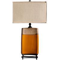 Crestview Collection CVAP1545 Coaston 32 inch 150 watt Ceramic Caramel Drizzle and Black Table Lamp Portable Light