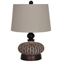 Crestview Collection CVAP1703 Radiance 21 inch 150 watt Grey Table Lamp Portable Light