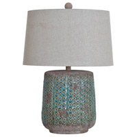 Crestview Collection CVAP1712 Duncan 26 inch 150 watt Antique Green Ceramic Table Lamp Portable Light