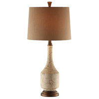 Crestview Collection CVAP1738 Cressida 29 inch 150 watt Cremdelux and Brown Table Lamp Portable Light