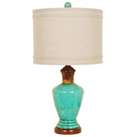 Crestview Collection CVAP1768B Napa 27 inch 150 watt Distressed Turquoise and Brown Table Lamp Portable Light
