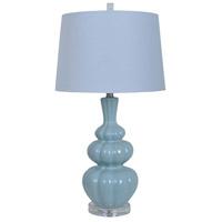 Crestview Collection CVAP1809 Strata 29 inch 150 watt Light Blue Table Lamp Portable Light